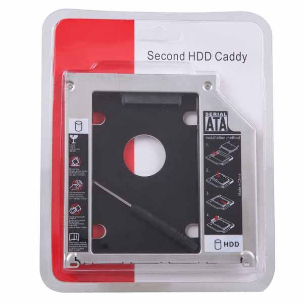 Khay đựng ổ cứng cho Laptop Caddy bay 9.5mm mỏng