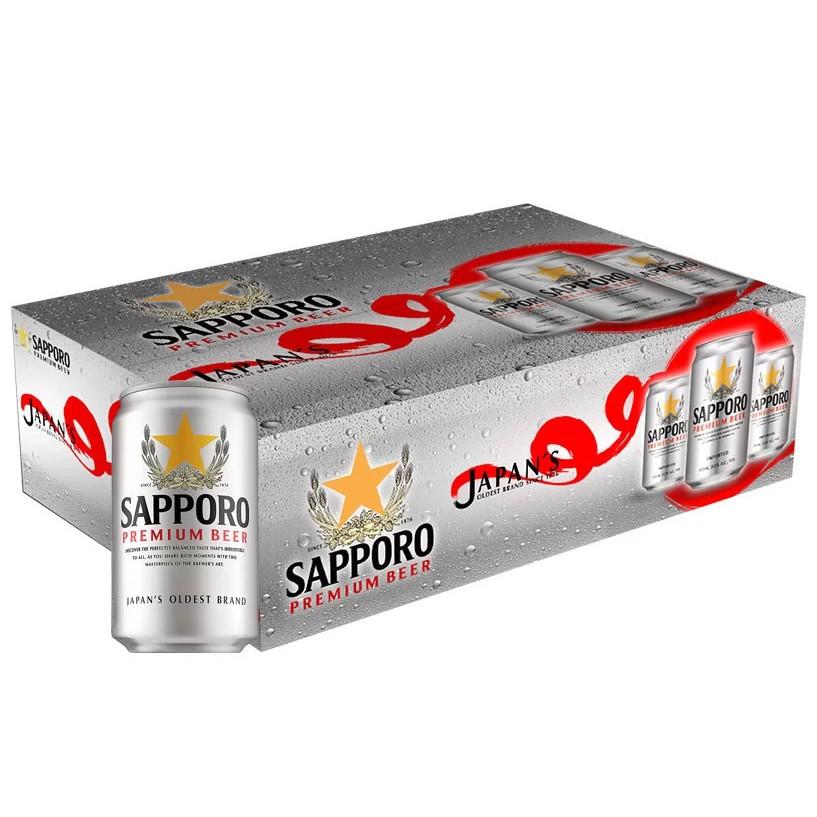 Thùng 24 Lon Bia Saporo Premium 330ML