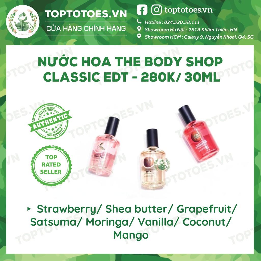 Nước hoa The Body Shop Classic EDT - Strawberry/ Shea butter/ Grapefruit/ Satsuma/ Moringa/ Vanilla/ Coconut