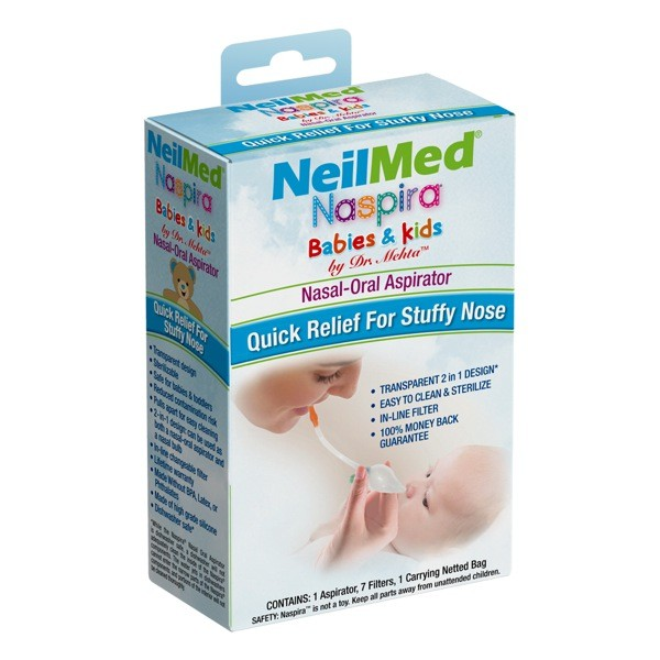 Bộ dụng cụ Bình hút mũi NeilMed Naspira