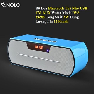 Bộ Loa Bluetooth Thẻ Nhớ USB FM AUX Wster WS Y69B Công Suất 3W Dung Lượng Pin 1200mah