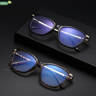 EMILEE💋 Women & Men Blue Light Blocking Glasses Reading Gaming Glasses Eyeglasses Computer Glasses Fashion Square Frame Anti Eye Eyestrain Non-Prescription Blue Light Blocking