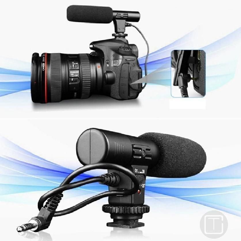 ไมโครโฟนวิดีโอสัมภาษณ์ไมโครโฟนสำหรับการถ่ายภาพกล้องดิจิตอล 7