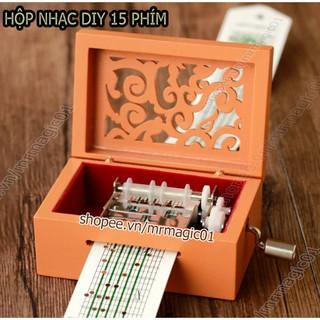 (Có video test) Hộp nhạc DIY đa năng 15 phím Tự Soạn Cao Cấp DIY (Music Box DIY 15 notes)