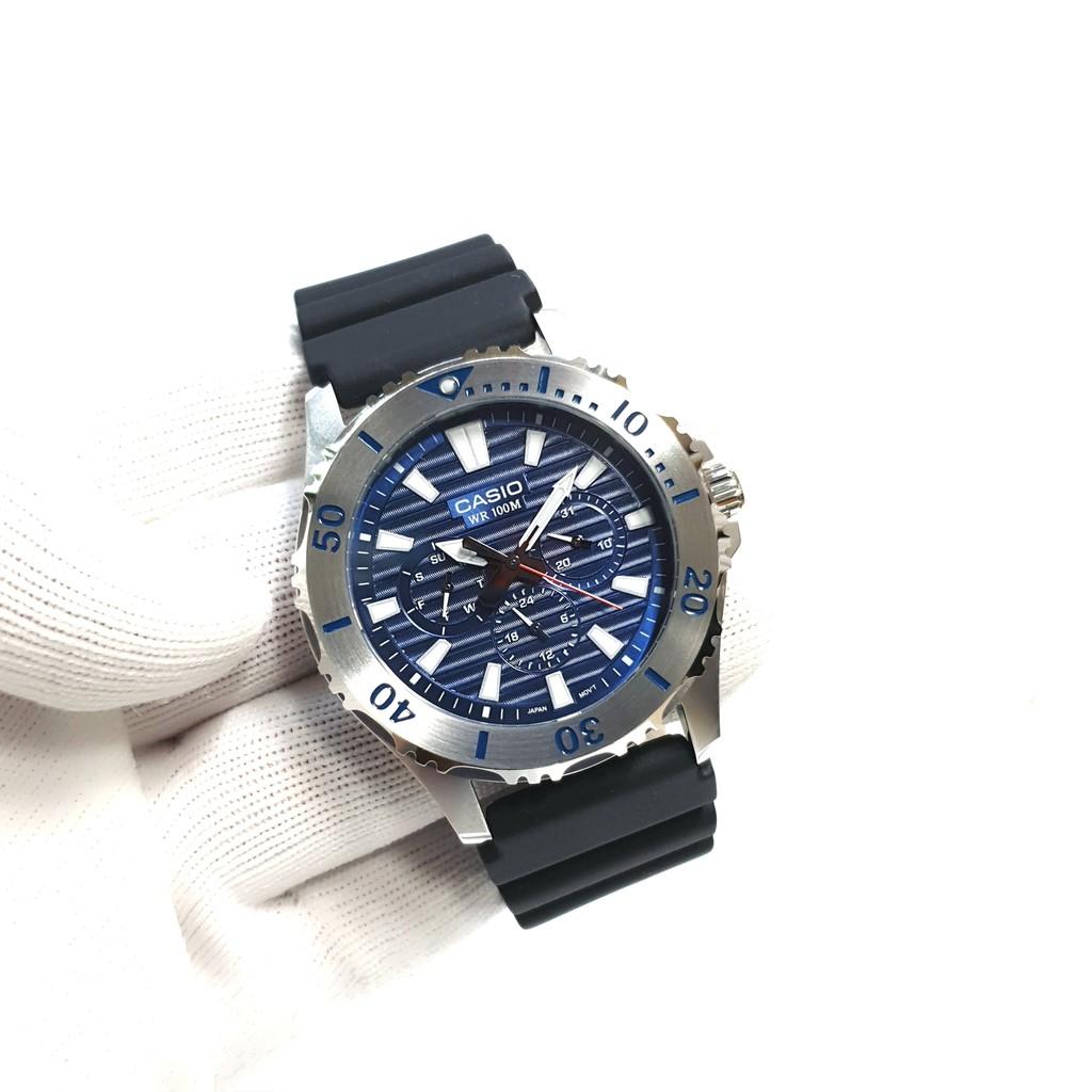 Đồng hồ nam dây nhựa Casio chính hãng Anh Khuê MTD-1086-2AVDF (45mm)