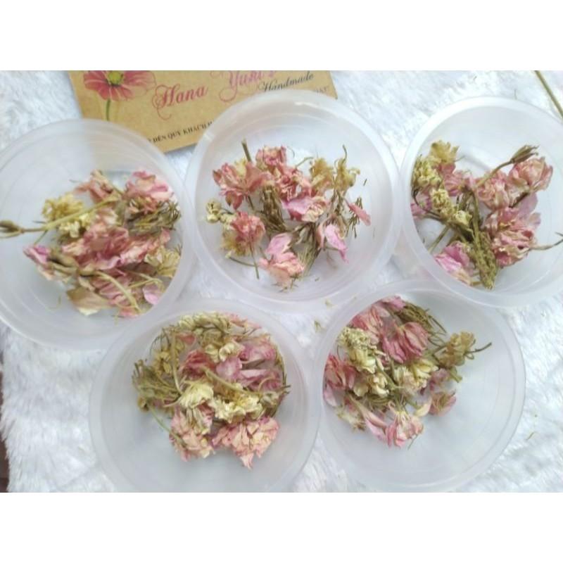 Hộp/bó Hoa Khô Larkspur dùng trong Handmade Resin ( vui lòng xem kỹ)