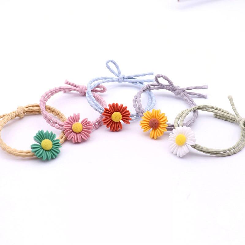Dây buộc tóc hoa cúc phong cách Hàn Quốc thời trang