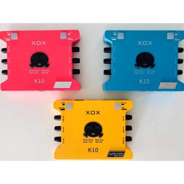 [Mã 267ELSALE hoàn 7% đơn 300K] Sound card thu âm K10 bản đặc biệt kỷ niệm 10 năm