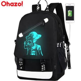 Balo Đi Học Phát Sáng Ohazo! Style Nhật Bản Mới Có Cổng USB và Khóa Chống Trộm Tiện Lợi