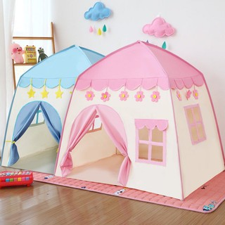 Lều công chúa, hoàng tử cho bé trai bé gái 2 màu xanh hồng mẫu mới 2021 thumbnail