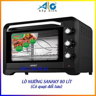 Lò nướng Sanaky 80 lít VH-809S2D màu đen - Có quạt đối lưu - Bảo hành 24 tháng - Alo Bếp Xinh