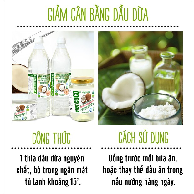 Dầu dừa nguyên chất làm đẹp Vietcoco organic coconut oil