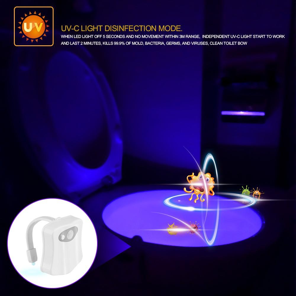 Đèn LED toilet 8 màu RGB cảm biến chuyển động