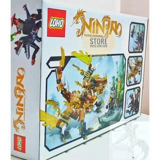 LEGO NinjaGo Lắp Ráp Robot Rồng , Khủng Long SX3009-1 ( Vàng – 241 Miếng )