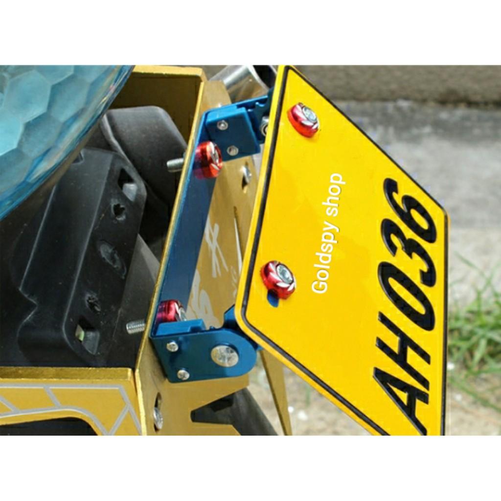 Pát nâng hạ biển số xe máy ( nhôm CNC )