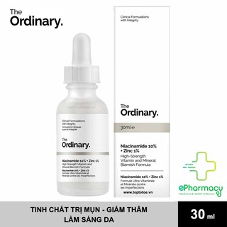The Ordinary Niacinamide 10% + Zinc 1% - Serum The Ordinary kiềm dầu, giảm mụn 30ml thumbnail