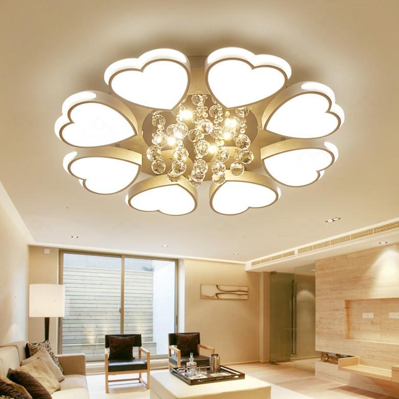 Đèn trần trang trí A3 - Đèn led ốp trần trang trí phòng khách hiện đại 3 chế độ kèm điều khiển