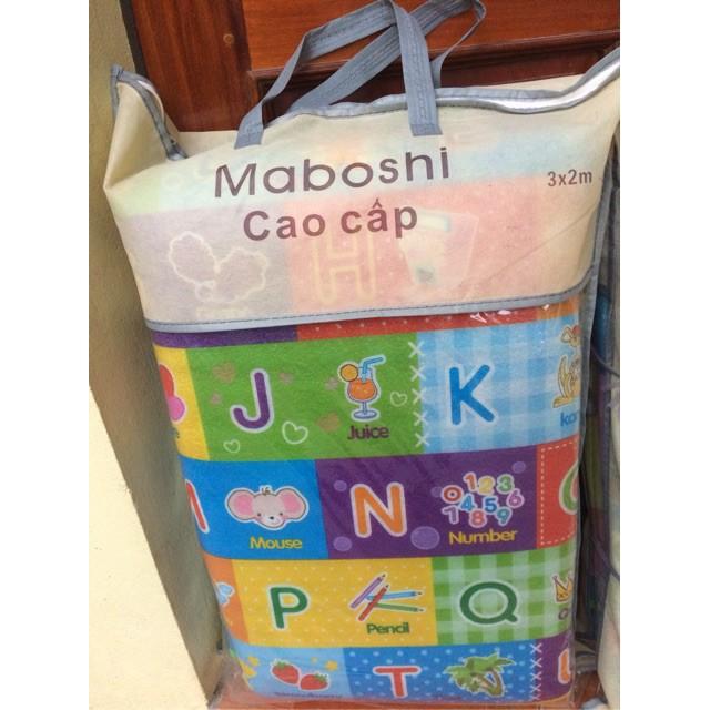 Thảm chơi xốp 2 mặt Maboshi chống thấm cho bé hàng cao cấp 1m8 x 2m