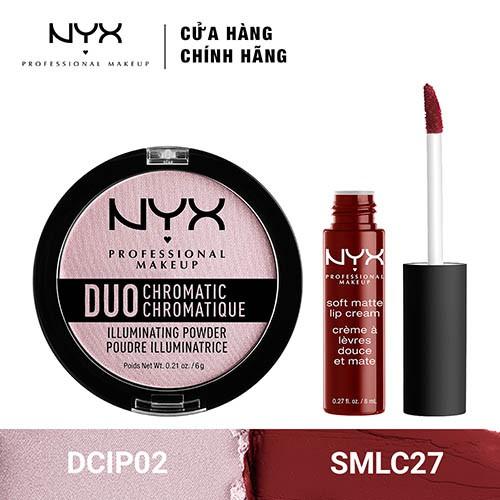 Bộ đôi Phấn bắt sáng & Son Kem lì NYX Professional Makeup (DCIP02 + SMLC27) _ TUNX00037CB - 3453771 , 1307089413 , 322_1307089413 , 440000 , Bo-doi-Phan-bat-sang-Son-Kem-li-NYX-Professional-Makeup-DCIP02-SMLC27-_-TUNX00037CB-322_1307089413 , shopee.vn , Bộ đôi Phấn bắt sáng & Son Kem lì NYX Professional Makeup (DCIP02 + SMLC27) _ TUNX00037C