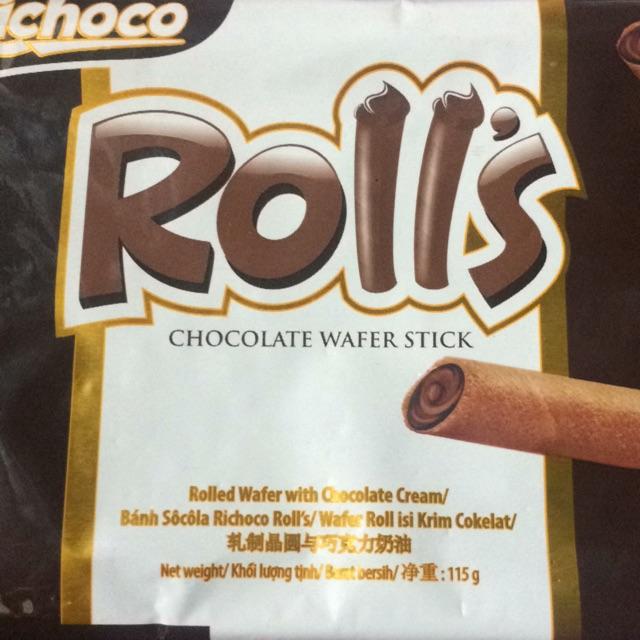 Bánh quế Socola Rolls gói 115g