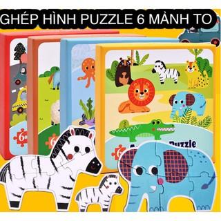 [Đồ chơi gỗ thông minh] Đồ chơi ghép hình puzzle 6 mảnh (loại lớn siêu đẹp)
