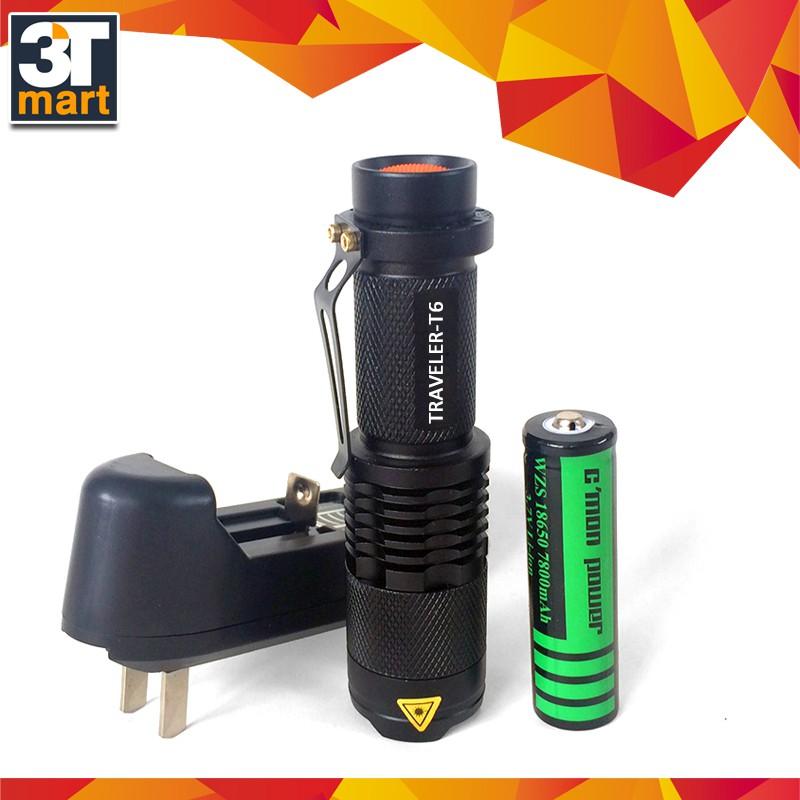 Bộ 1 đèn pin siêu sáng C