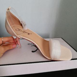 Sandal cao gót, gót trong, quai trong - Quảng Châu- Full box SC06 ( Hình+ Clip Thật)