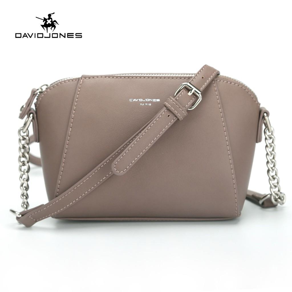 Túi xách DAVIDJONES đeo chéo bằng da PU thời trang cho nữ