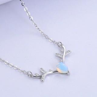 Dây chuyền phối mặt gắn hạt đá đổi màu lấp lánh xinh xắn cho nữ - Bảo Ngọc Jewelry  XB-DB36