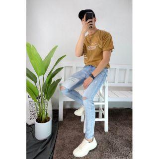 Quần jeans rách gối cực chất J1901