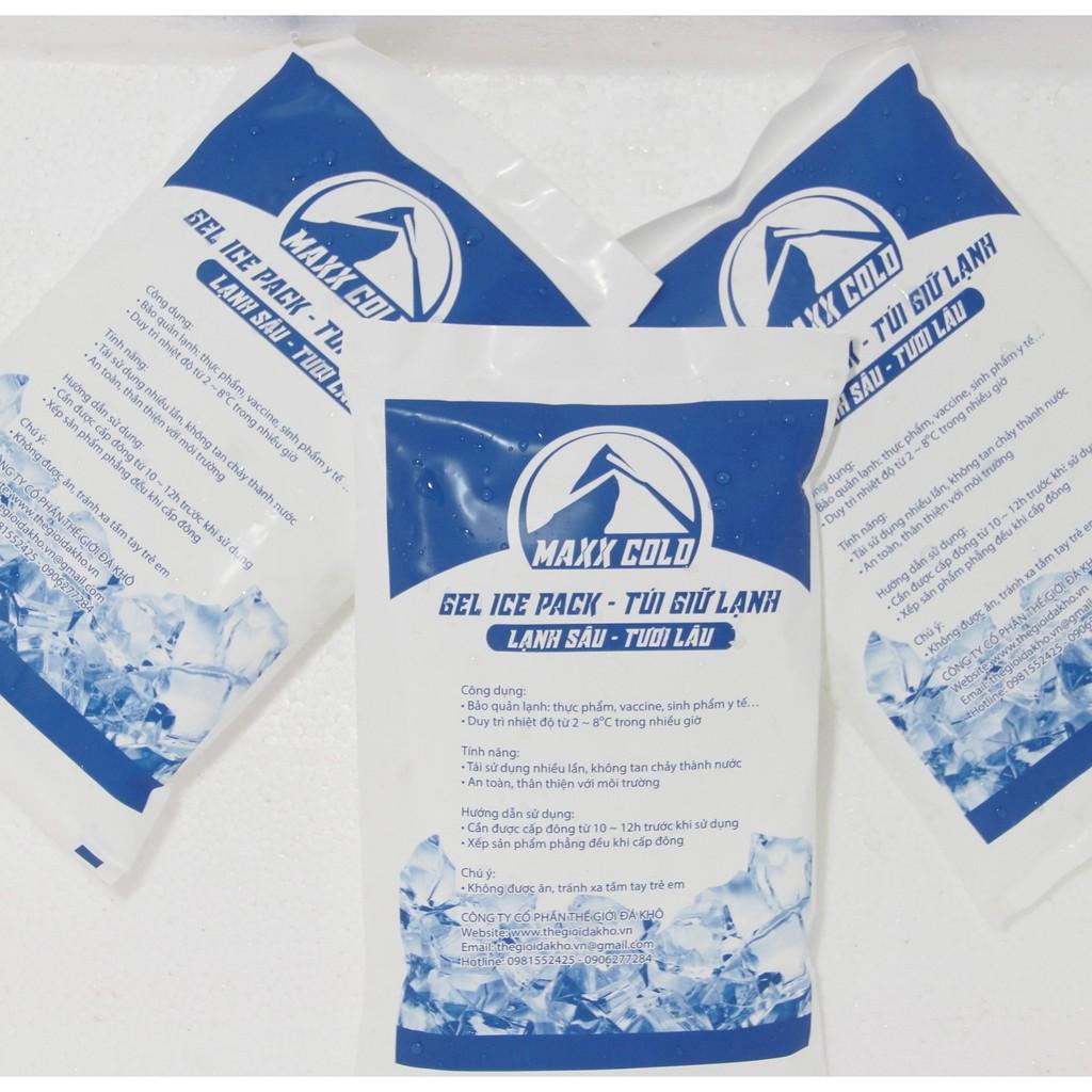 Túi đá khô gel Maxx Cold 500g giữ lạnh thực phẩm, thuốc, bảo quản sữa mẹ