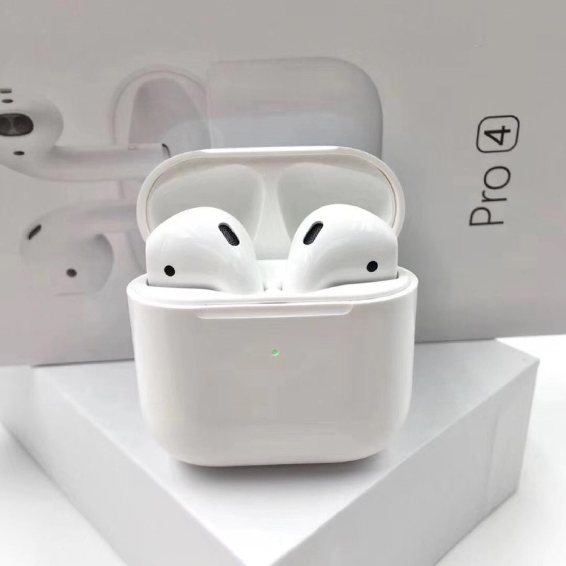 Tai nghe bluetooth V5.0 Airpods Mini Pro 4 chống ồn chủ động, tai nghe không dây kèm cáp sạc Lightning
