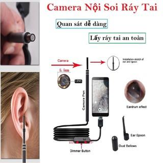 Camera Nội Soi Tai, Mũi, Họng Kiêm Lấy Ráy Tai HD Visual Earwas Clean Tool Cho Hình Ảnh Sắc Nét