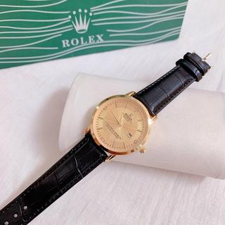 Đồng hồ Nam Rolex dây da mềm, phong cách classic, hàng full box thẻ bảo hành 12 tháng thumbnail