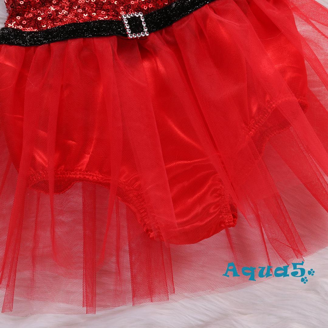 Đầm Xoè Tutu Hoạ Tiết Giáng Sinh Cho Bé Gái 1 Tuổi