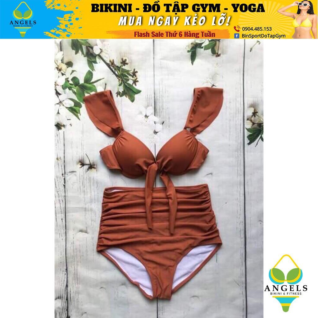 Bikini cánh tiên,quần cạp cao, Bộ Đồ Bơi Hai Mảnh BHV025 [ Giá Sỉ ]