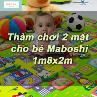 Thảm Chơi Maboshi 2 mặt Chất Liệu Cao Cấp Chống Trơn Trượt, An Toàn Cho Bé 180 x 200cm