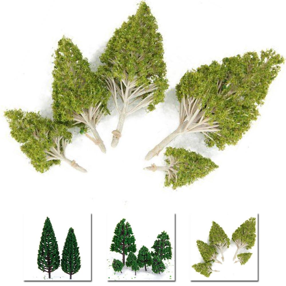 ☽27pcs/Set 3-16cm 3-Type Model Trees Layout Train Landscape Scenery Scale Decor