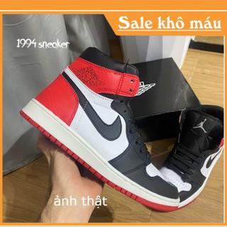 Giày jordan 1 cổ Cao full bill + box jordan đen đỏ cổ cao [ảnh thật + video] jordan đỏ đen thumbnail