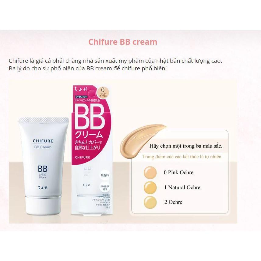 Kem nền che khuyết điểm Chifure BB Cream (50g) - Nhật Bản - 2461053 , 1026996926 , 322_1026996926 , 905000 , Kem-nen-che-khuyet-diem-Chifure-BB-Cream-50g-Nhat-Ban-322_1026996926 , shopee.vn , Kem nền che khuyết điểm Chifure BB Cream (50g) - Nhật Bản