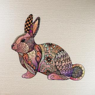 [ Hàng Mới Về ] Bộ Ghép Hình Con Thỏ Mảnh To ( 50 - 70 ) Dành Cho Bé Từ 3 - 6 Tuổi Siêu Dễ Thương.