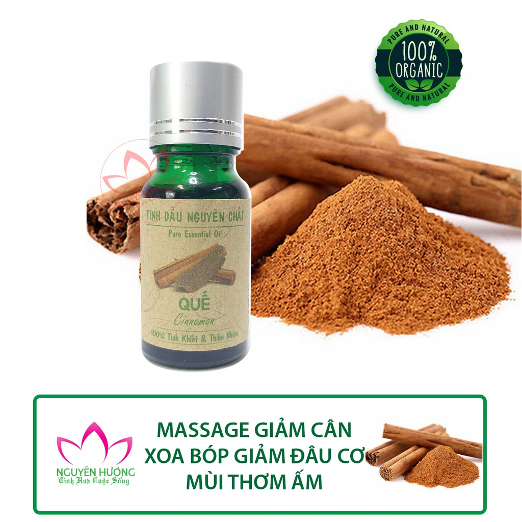 Tinh Dầu Vỏ Quế (Cinnamon) – 100% nguyên chất ( Đuổi muỗi, làm thơm phòng, treo xe )