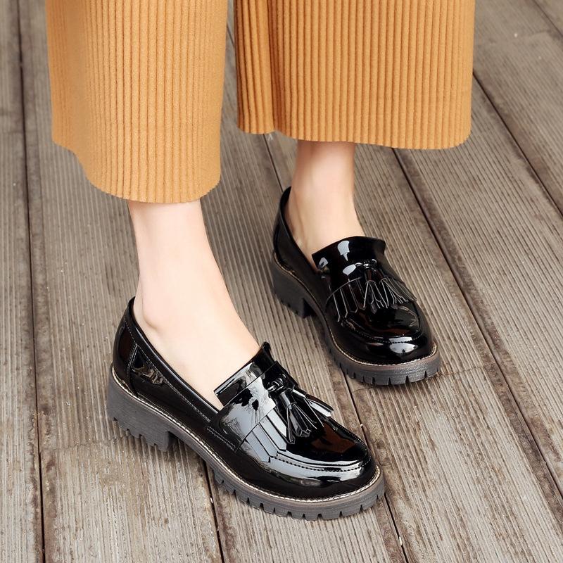 Giày Da Phong Cách Anh Quốc Sang Trọng Cho Nữ