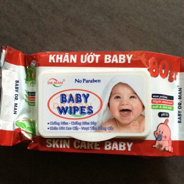 [SIÊU RẺ]3 hộp khăn ướt baby