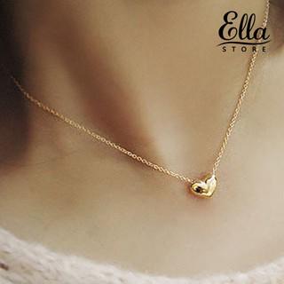 Dây chuyền mạ vàng phối mặt hình trái tim đơn giản thời trang Ne7 1