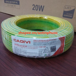 Dây te Cadivi Vàng Xanh cv 4 mm (dây tiếp địa , PE ) cuộn 100 mét thumbnail
