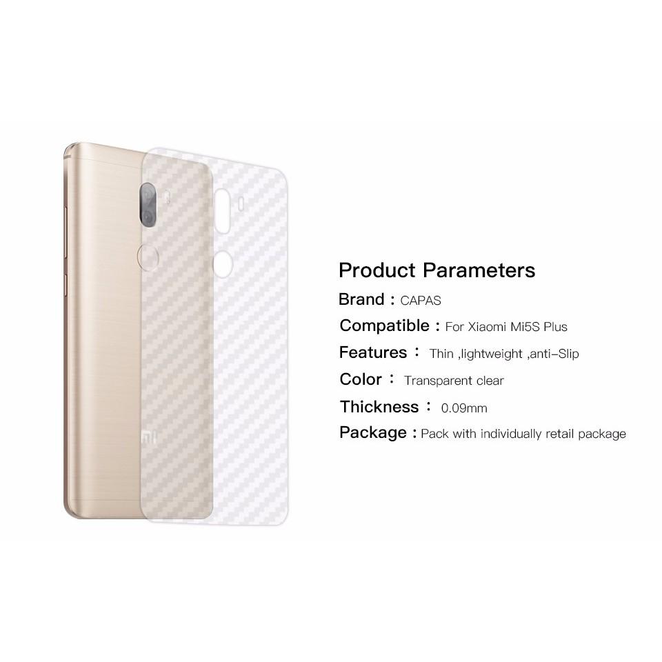 Xiaomi Mi 5S Plus _Dán carbon trống trầy mặt sau
