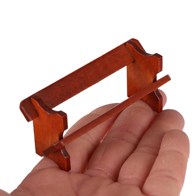 ★ƯU ĐÃI ★1:12 Cute MINI Dollhouse Miniature newspaper book rack 7.5*2.3*3.2cm