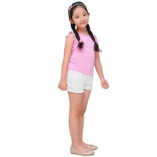 Bộ đồ hè bé gái Narsis KM0005 hồng chấm trắng cam quần trắng