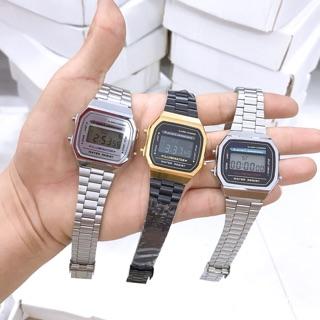 Đồng hồ nam A168 dây thép kiểu dáng năng động cho tuổi teen